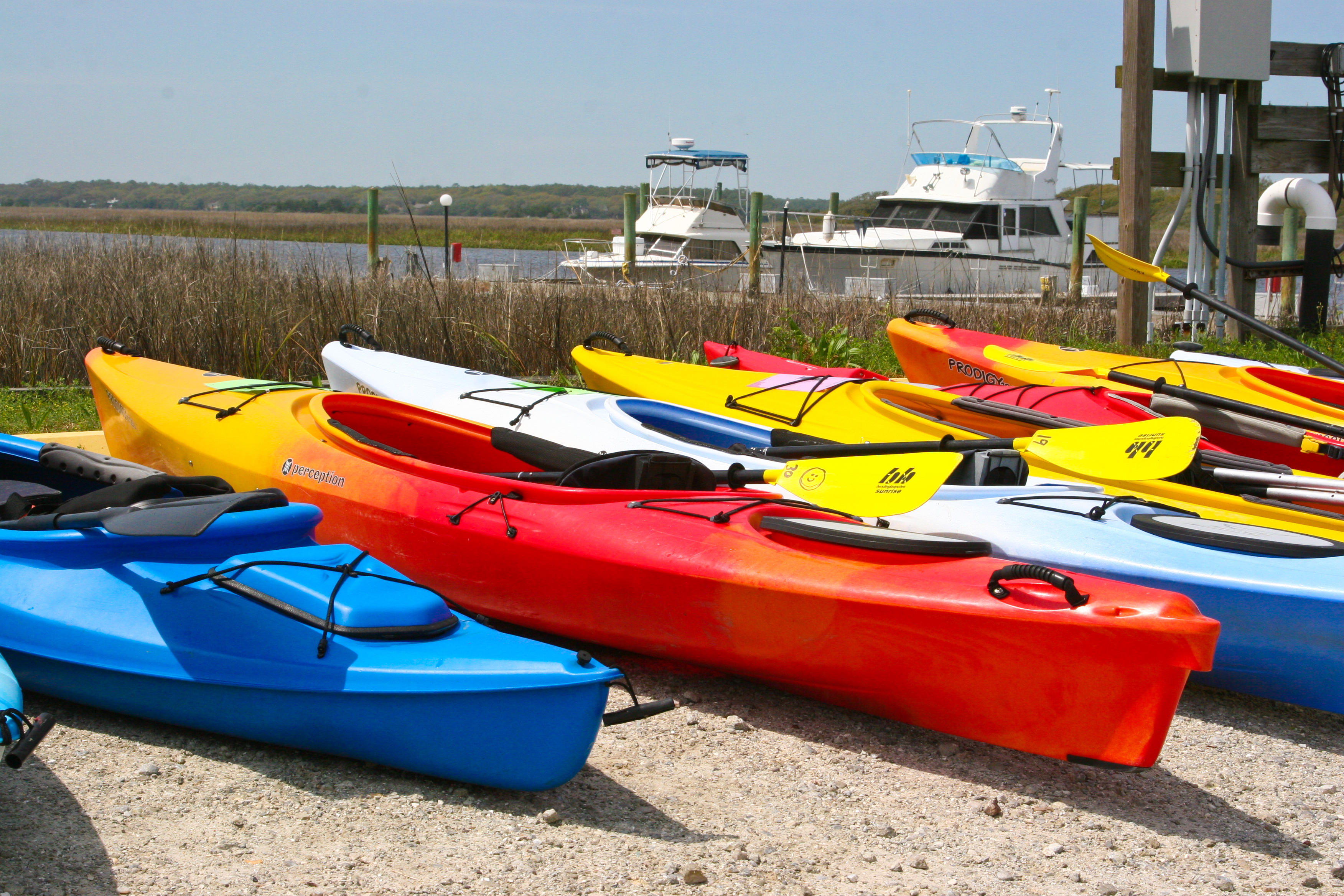 Kayaks at Blue Water Point