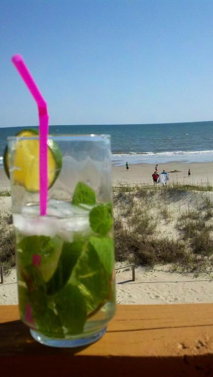 Refreshing Drink at Beach