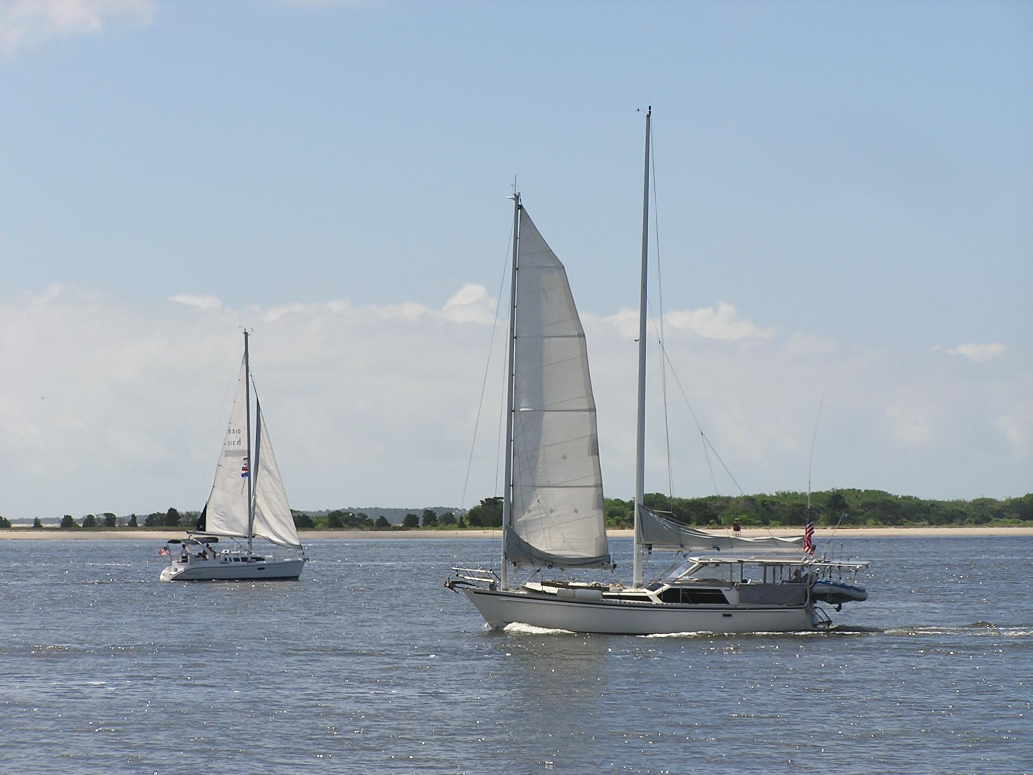 Sailboats in Cape Fear River