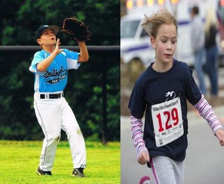 Baseball and runner