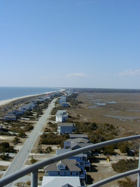 View from Top of Oak Island Lighthouse