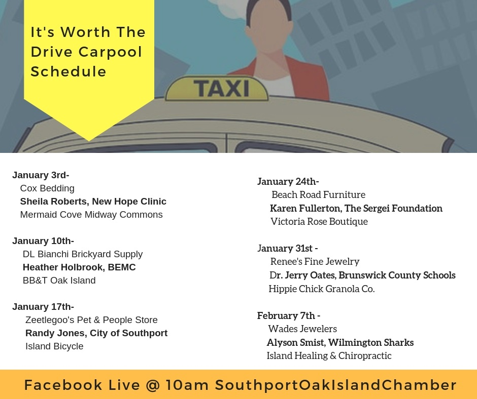 January It's Worth the Drive Schedule