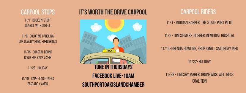 Carpool Stops and Speakers November 2018